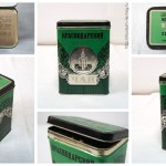 Коробка «Краснодарский чай, высший сорт», «Госагропром», жесть, 1970-е.