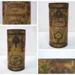 Банка «Монпансье из фруктовых соков», жесть, к. XIX – н. XX вв.