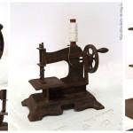 Детская швейная машинка цепного стежка с литым художественным корпусом, производство Западная Европа, 1910-1930 год выпуска.