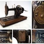 Швейная машина,  1903 г.,  Производство «Gritzner High-Arm Transverse Shuttle Machine – Treadle», Дурлах, Германия.