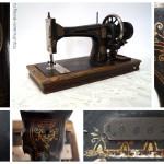 Швейная машина челночного стежка фирмы «Науманн» (Германия, 1894-1896). Изготовлена по специальному заказу Торгового дома Попова в связи с 25-летием его работы в 1895 году.