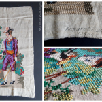 Картина, лен, нитки мулине, вышивка ручная крестом, 1949 г.