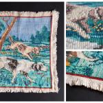 Картина «Собаки», лен, нитки мулине, вышивка крестом ручная, 1930-60 гг.