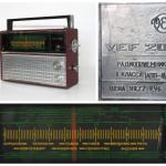 Портативный радиоприёмник «VEF 202», СССР, Рижский государственный электротехнический завод «ВЭФ», модель 1971 года.