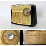 Портативный радиоприёмник «Атмосфера-2М», СССР, Воронежский радиозавод, модель 1962 года.