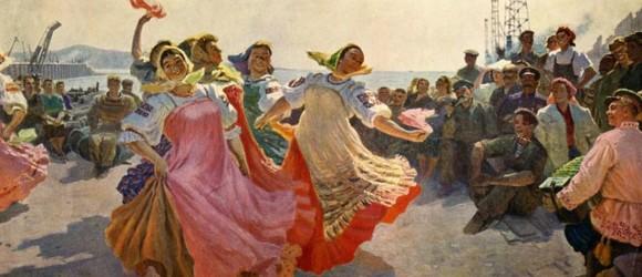 Володин Михаил Филиппович «Концерт на стройке» 1957 г.