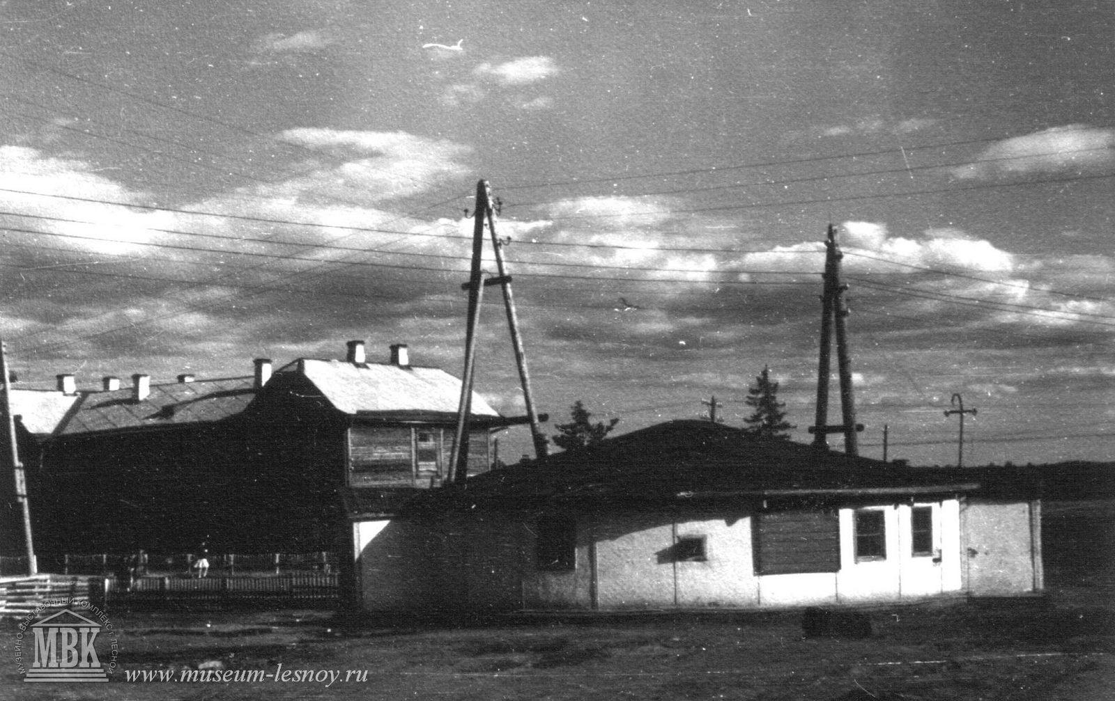 Первое жилище строителей - юрта 1947 г.