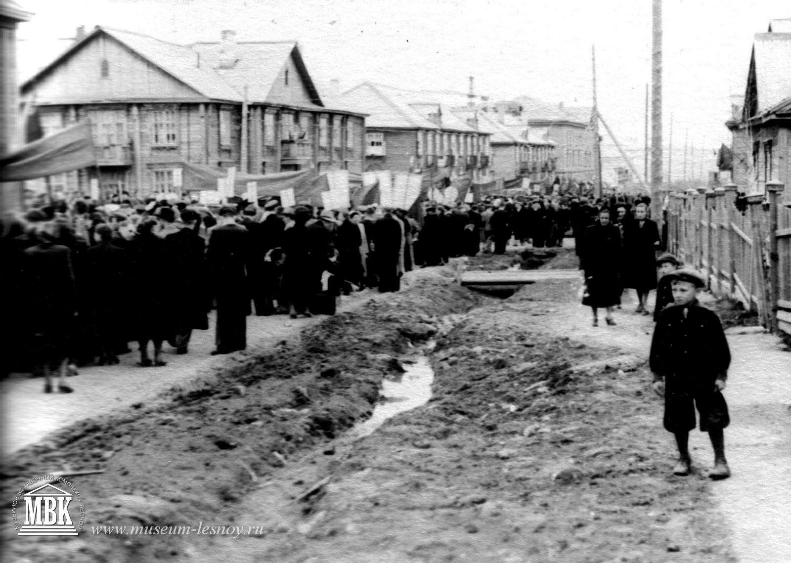 первомайская демонстрация, 1953 г.