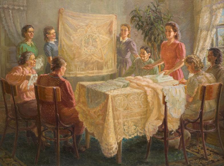 А.М. Киркиж, Вологодские кружевницы, 1948.