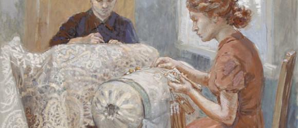Комаров Е.И., Кружевницы, 1958.