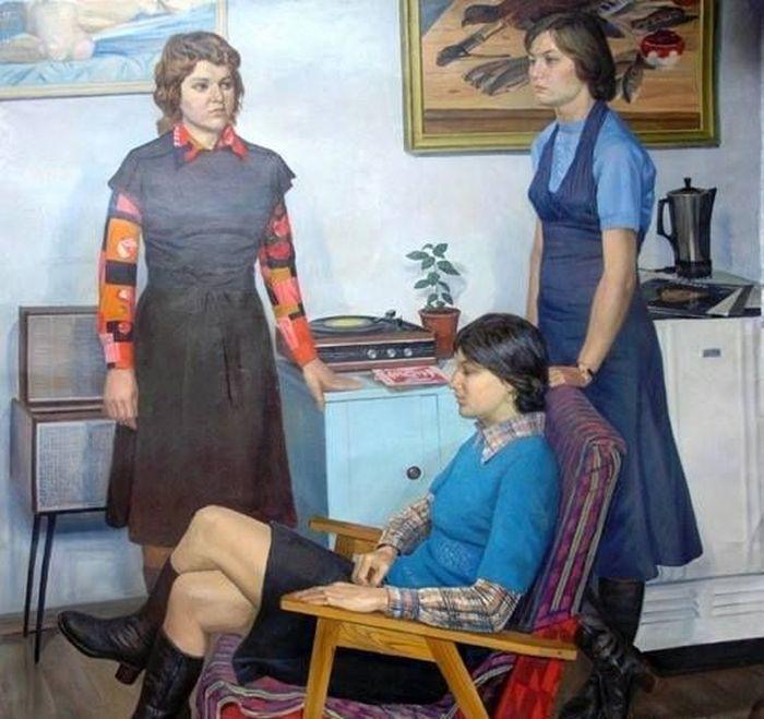 Невзгодин А.Н. «Подруги», 1977