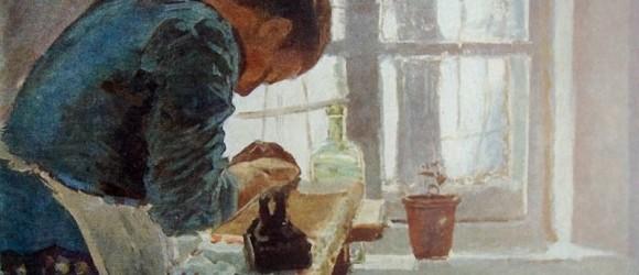 Елена Дмитриевна Поленова, «Гладильщица», 1870-е