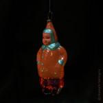 Игрушка ёлочная стеклянная, формовая «Мальчик-гимназист», СССР, 1950-60 гг.