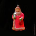 Игрушка ёлочная стеклянная, формовая «Дед Мороз», СССР, 1956-70 гг.