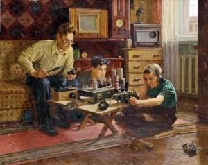 Раиса Зенькова. «Юные радиостроители», 1950-е гг.