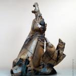 Скульптура «Купание красного коня». Шамот, эмаль. 27 х 52 х 71 см, 1990-е гг. Автор – В.И. Миронец.