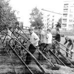 Трудовой лагерь «Романтик», строительство первого детского стадиона, 1979