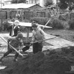 Строительство детского стадиона «Юность», 1980