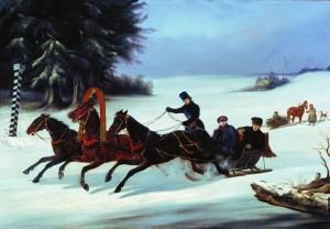 Николай Егорович Сверчков, «Тройка», 1848 г.