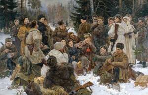 Ю. М. Непринцев. Отдых после боя. 1955 г.