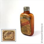 Флакон с порошком «FERRATIN», препарат железа, изобретен в 1893 г. Фармацевтическая компания «С. Ф. Берингер и сын» (C. F. Boehringer & Soehne, Mannheim-Waldhof), Мангейм, Германия, 1893-1930 гг.