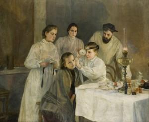 Эмилия Шанкс. Медицинский осмотр в русской больнице. 1880