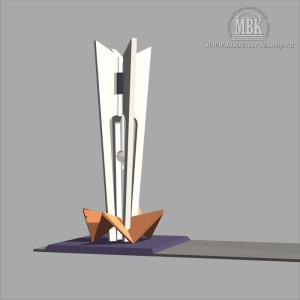 Памятник первостроителям, проект 1984