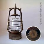 Фонарь керосиновый «Красный факел» ветроустойчивый, 10-линейный. Госфабрика «Металлоштамп», Самара, СССР, конец 1920-х годов.