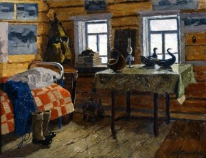 В.Ф. Сторожаров. Село Муфтюга. Наша комната.