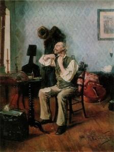 Н. Л. Скадомский Перед концертом.