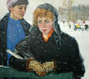 Виктор Куделькин, «На катке», 1961