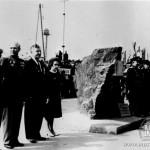 Установка памятного камня, 9 мая 1965 г.