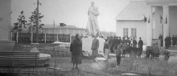 площадь перед клубом, конец 1950-х гг., фото из личного архива Н.Князевой