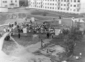 Агитплощадка «Строитель», 1977 год