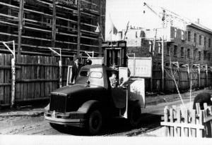 Строительство жилых домов по улице Пушкина, 1954 год