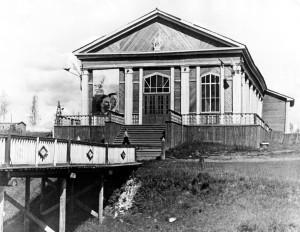 Летний кинотеатр в парке, 1953 год