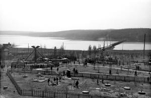 Парк аттракционов, начало 1960-х гг.