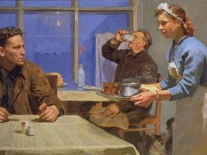 Кобозев Руслан Андреевич (Россия, 1927-1995) «В столовой», 1960 г.